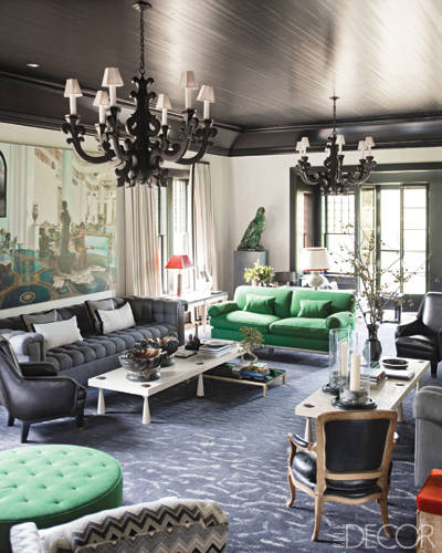 Elle Decor's Take on Emerald